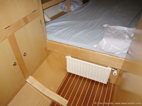 And feeds the radiators fitted in every cabin.