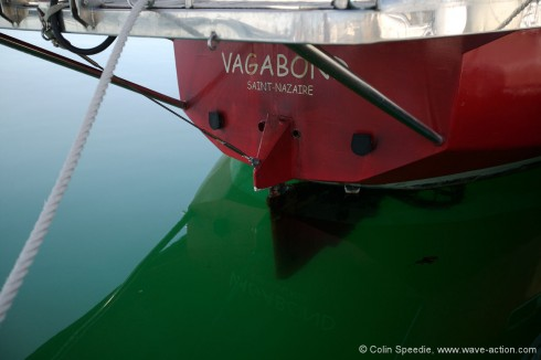 Vagabond has twin engines, and the props are heavily protected against damage from floating ice.