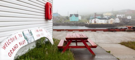 Welcome to Grand Bruit, Newfoundland sign reading Tiny But Beautiful