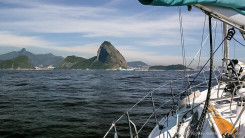Entering Rio – what a backdrop
