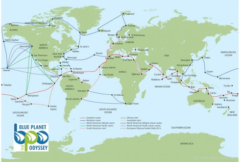 Blue Planet Odyssey routes