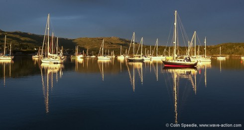 Night falls on Arisaig
