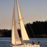 Our friends Kim and Erling use good sails, combined with careful tuning and trimming, to make some surprisingly fast passages.