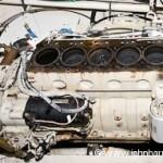 Cummins marine engine with head removed.