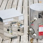 Two marine hot water heaters.