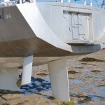 Rudder and dagger-board system on the Boreal 44 Sailboat