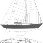 Cris Craft 32 Sailboat Drawing