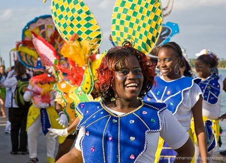 A dancer at the New Years Day Junkanoo festival.