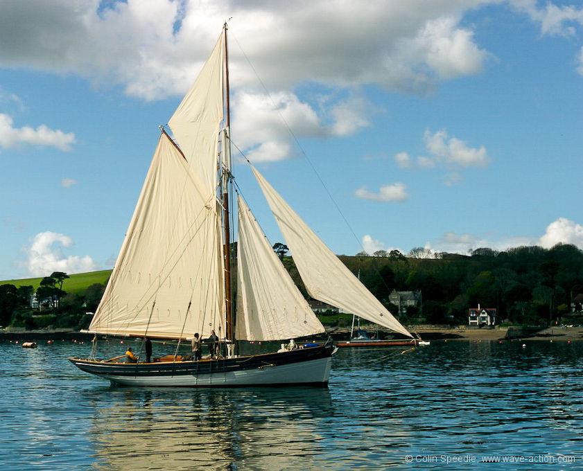 Traditional Wooden Sailboats At Falmouth Cornwall