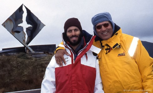 Ivan and Jimmy Cornell at Cape Horn – part of the Cornell family team