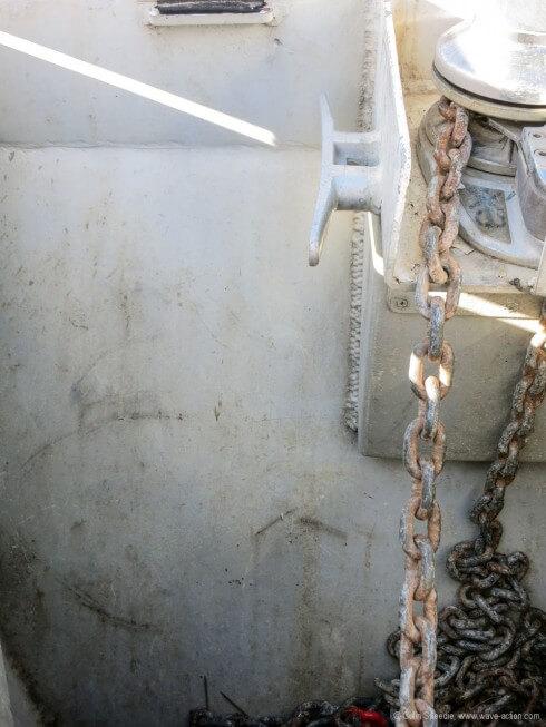 Anchor locker bulkhead