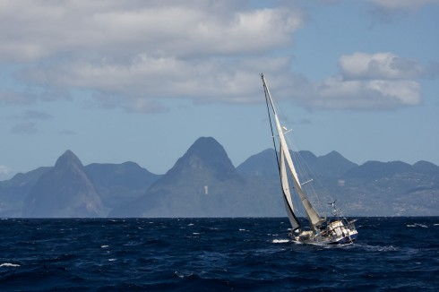 Testing conditions between St Vincent and St Lucia