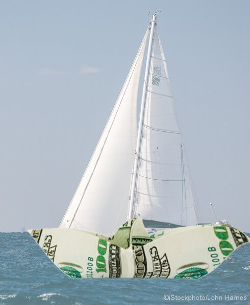 Ship made of money