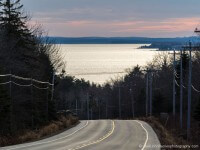 Route 3 with Mahone Bay in the background.