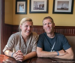 At lunch with Andy Schell & Mia Karlsson of 59 North.