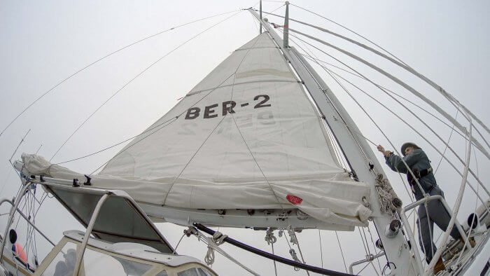 Hoisting The Mainsail-2